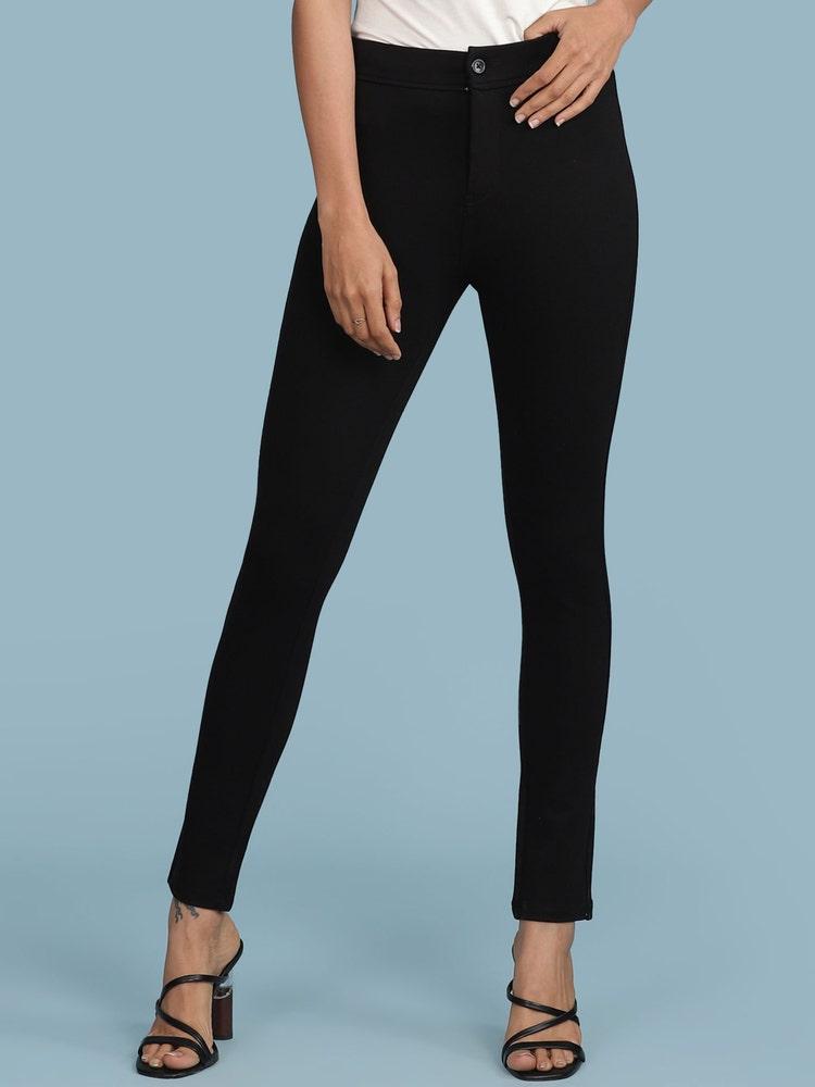 Black Solid Pant