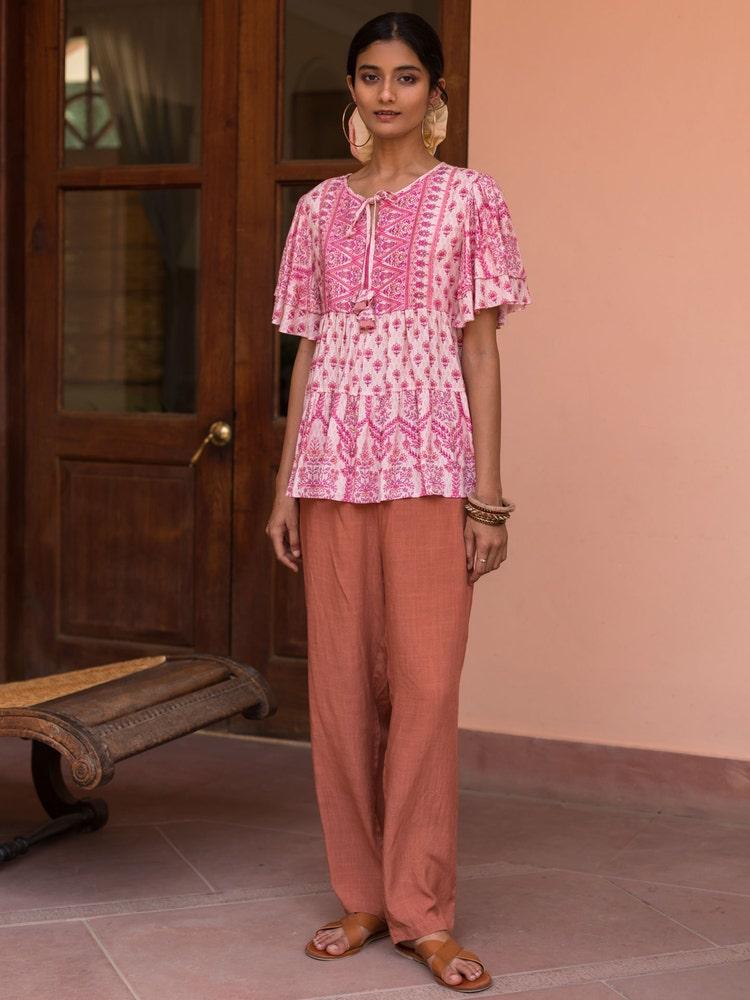 Pink Printed Top