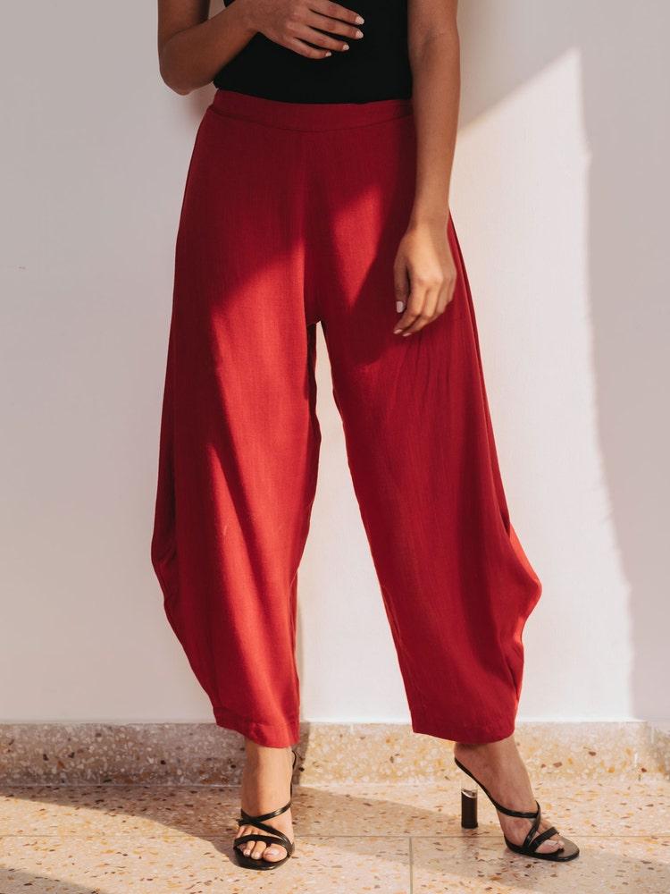 Red Dhoti Pants